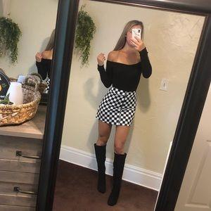 ▪️Checkered Sweetheart Mini Skirt ▪️